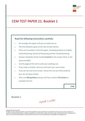 11 plus test paper