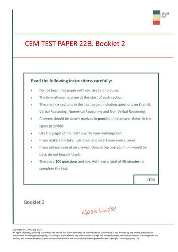 11 plus test papers