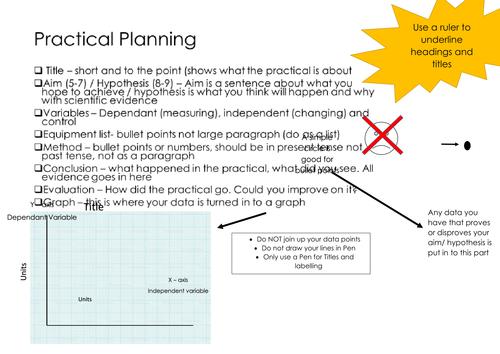 Practical Planning sheet