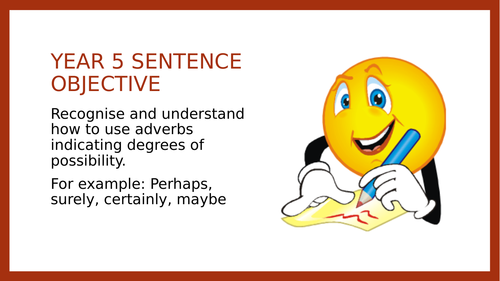 Year 5 SPAG PPT: Adverbs of Possibility