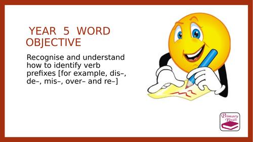 Year 5 SPAG: Verb Prefixes