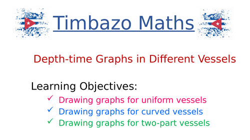Depth-time Graphs in Different Vessels