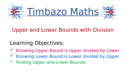 Upper and Lower Bounds with Division