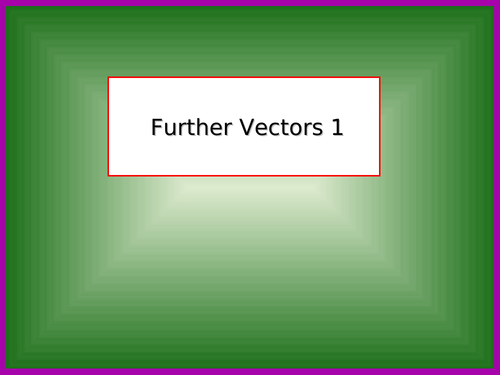 Further Vectors 1 (A-Level Further Maths)