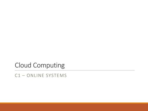 NQF BTEC Level 3 ICT Unit 1 - Cloud Computing Lesson