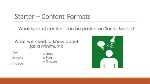 NQF BTEC Level 3 ICT Unit 3 - Using Social Media in Business (Content)