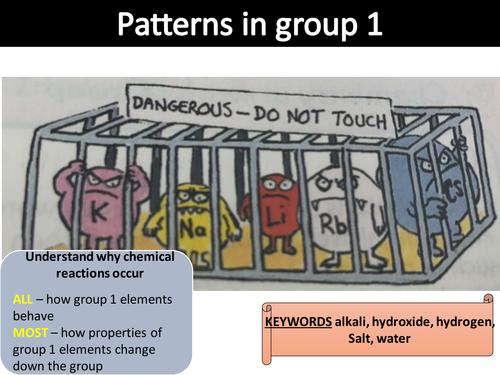 Group 1 - alkali metals