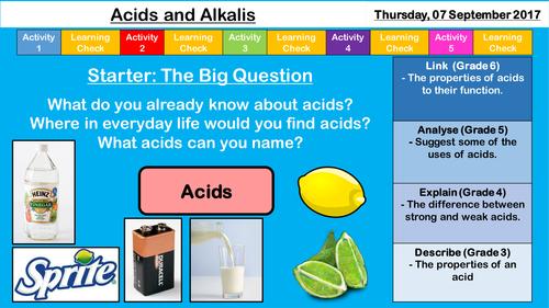 Household Acids and Alkalis - NEW AQA KS3