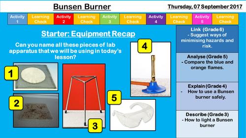 Year 7 Safety - Bunsen Burner and Risk Assessment