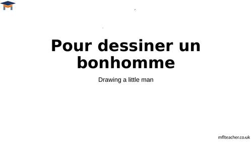 French - Pour dessiner un bonhomme
