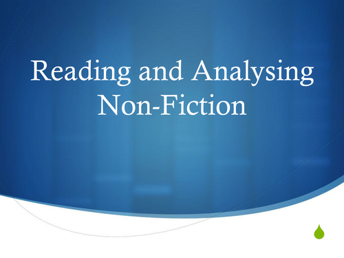 Analysing Non-Fiction Texts