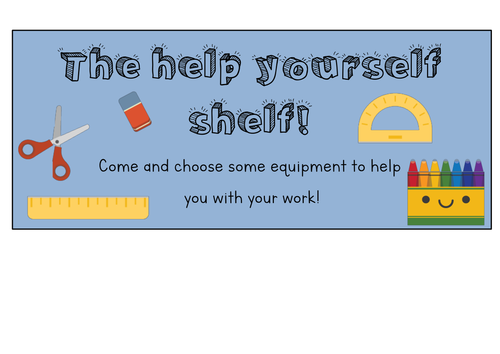 Resource labels - Help yourself shelf and enable table