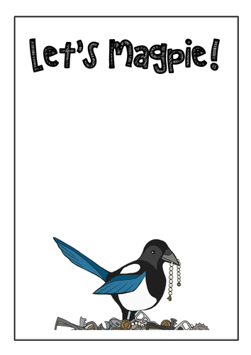 Let's Magpie - vocabulary display poster
