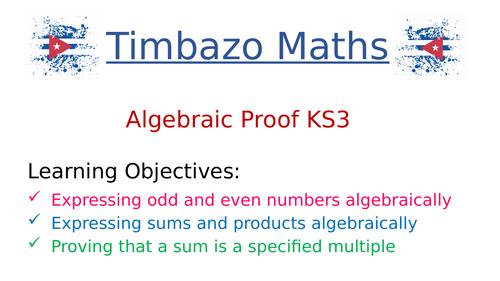 KS3 Algebraic Proof