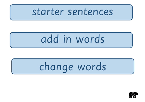 Super Sentences Display and Writing Frame Pack