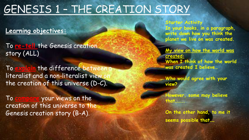 GCSE - Genesis Creation Story