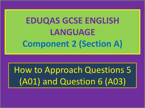 Eduqas GCSE English Language (Component 2, Section A) How to structure successful responses.