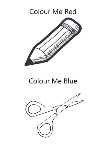 EAL: Colour The Objects Activity by george_mc | Teaching