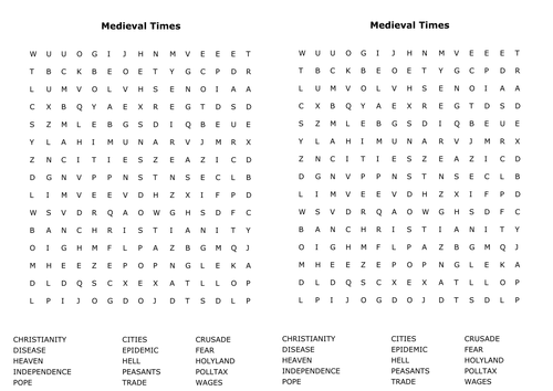 KS3 Wordsearches