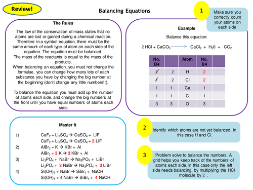Quantitative Chemistry Topic 3 Full Set of Revision Card Activities New AQA Chemistry GCSE
