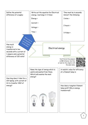 Bitesize Electricity revision - Electrical Energy
