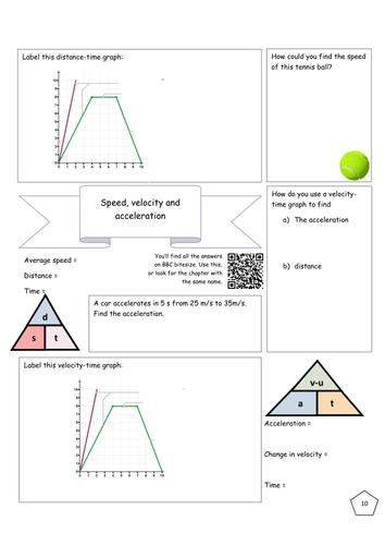 Bitesize Forces/motion revision - Speed, velocity, acceleration