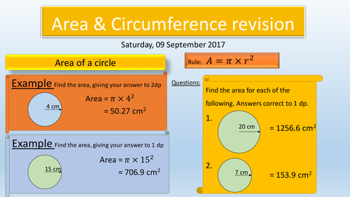 Revision lessons 2