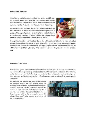 BTEC Business (Level 2) Successful Businesses Unit 1