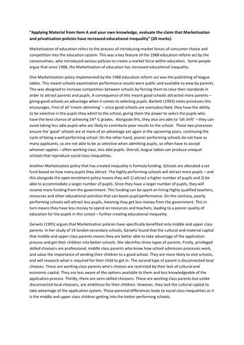 Chronological essay writing