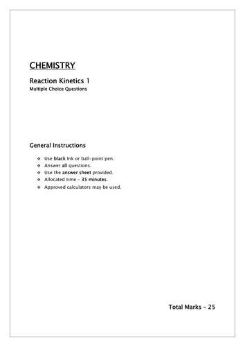 Reaction kinetics/Rates of reaction, activation energy andMaxwell–Boltzmann distribution