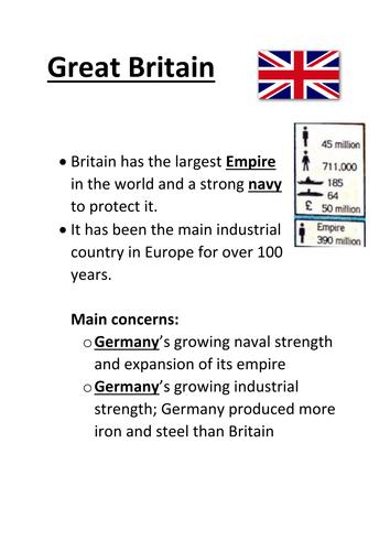 World War One Alliances