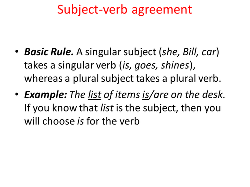 Subject Verb Agreement Rules By Jordanleighwilke Teaching