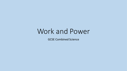 Edexcel CP7a Work and Power