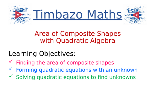 Problems of Area and Algebra (Quadratic)