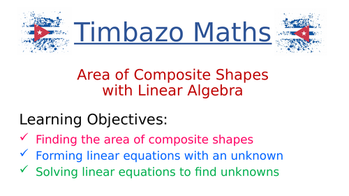 Problems of Area and Algebra (Linear)