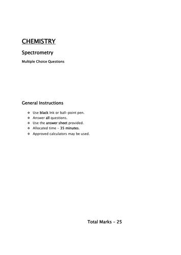 Mass/ IR and atomic absorption spectrometry /MCQ