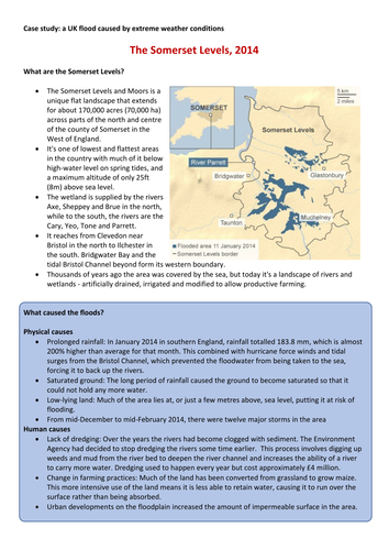 Somerset Levels Flood case study