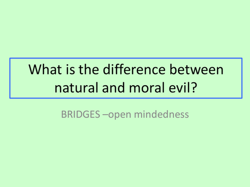 GCSE RS/RE lesson for Christianity  - Moral and Natural evil - fully resourced