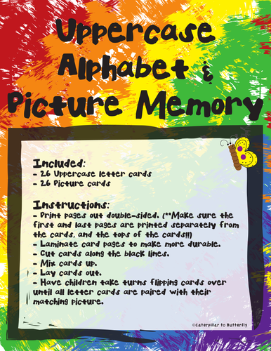 Alphabet and Picture Memory
