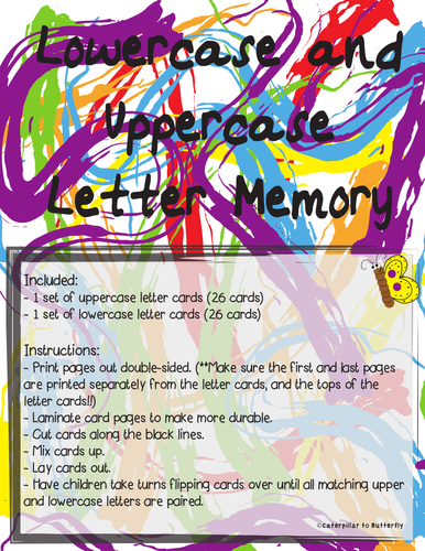 Uppercase and Lowercase Memory