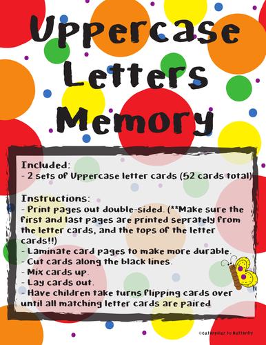 Uppercase Letter Memory
