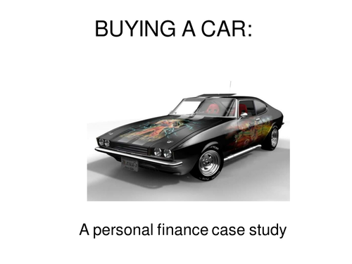 Buying a car - PSHE lesson