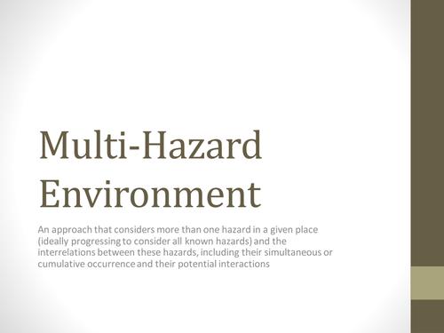 Multi Hazard Environment A-Level AQA - Philippines
