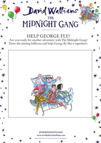 David Walliam's The Midnight Gang - Help George Fly