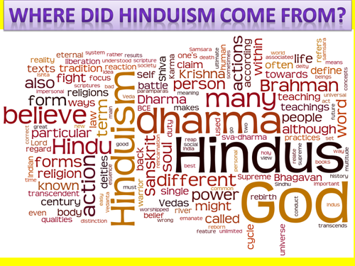 KS3 RE/RS lesson on Hinduism - Introduction to Hinduism - fully resourced