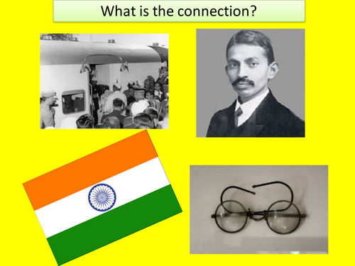 KS3 RE/RS lesson on Hinduism - Gandhi - fully resourced
