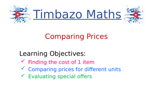 Comparing Two Offers