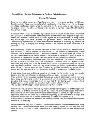 Full lesson AQA 1-9 Analysing Writer's Use of Language- based on Mandela extract