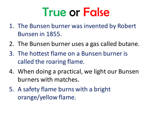Year 7 - introduction to bunsen burners