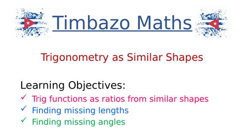 Trigonometry as Similar Triangles